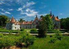 Summer pano of Schoenborn palace Ukraine travel. Panorama of Schoenborn palace Ukraine history Stock Photography