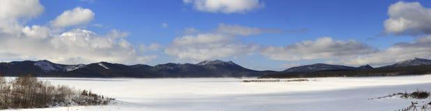 Panorama Schuchye Lake in National Park Burabay Royalty Free Stock Photography