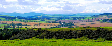 Panorama Scottish Borders Stock Images