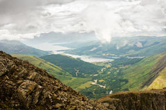 Panorama of Scottish higlands Royalty Free Stock Photo