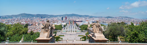 Panorama Sculpture Espanya Square Royalty Free Stock Photography