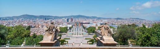 Panorama Sculpture Espanya Square royalty free stock photography