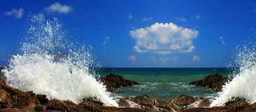 Panorama of the sea Royalty Free Stock Images