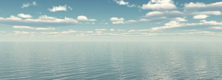 Panorama of sea Stock Image