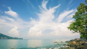 Panorama sea bay. Thailand, Phuket, Kamala stock footage