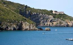 Panorama of sea and coast Royalty Free Stock Photos