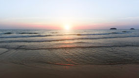 Panorama of sea coast during a wonderful sunset. Nature. Stock Photo