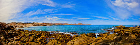 A panorama of the Sea of Cortez. Overlooking a protected bay in the Sea of Cortez Royalty Free Stock Photos