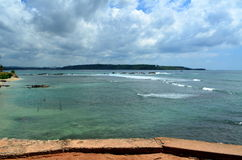Panorama of the sea in Galle Stock Image