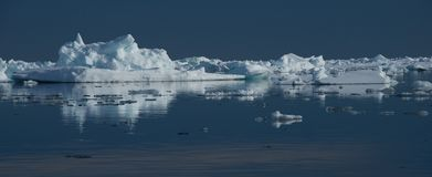 Panorama of sea ice in Arctic Ocean Stock Photo