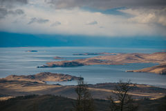 Panorama sea passages and islands Stock Images
