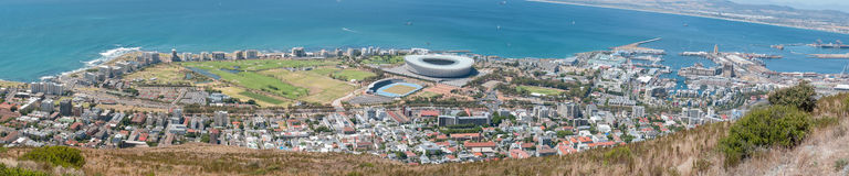 Panorama of Sea Point, Green Point, waterfront and harbor Royalty Free Stock Photo