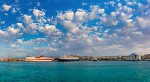 Panorama of sea port, Heraklion, Crete, Greece Stock Photography
