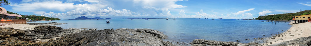 Panorama sea scape Stock Photography