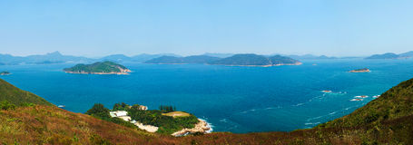 Panorama sea scenery Royalty Free Stock Images