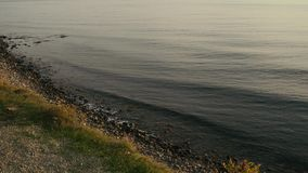 Panorama of the sea shore from a height stock video