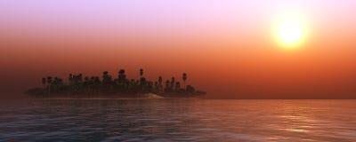 Panorama of sea sunset, sunrise. Light over the sea, ocean sunset, sunrise over the sea Stock Images