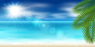Panorama of the sea Royalty Free Stock Photo