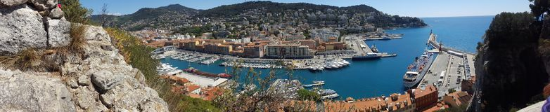 Panorama Sea View. An Amazing Picture of Nice Perfect Holidays stock photography