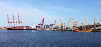 Panorama of seaport Royalty Free Stock Image