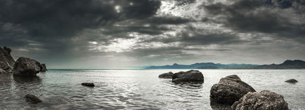 Panorama Seascape Imagem de Stock Royalty Free