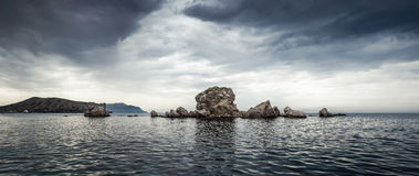 panorama seascape Royaltyfria Bilder