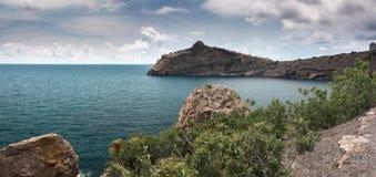 Panorama. Seascape. Crimean Peninsula Royalty Free Stock Photo