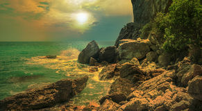 Panorama. Seascape. Crimean Peninsula Royalty Free Stock Photography