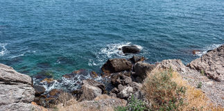 Panorama. Seascape. Crimean Peninsula Stock Photos