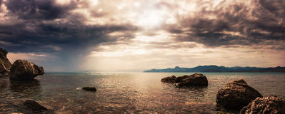 Panorama. Seascape. Stock Image