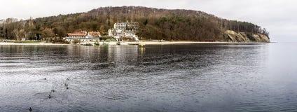 Panorama of seashore and beach Royalty Free Stock Image
