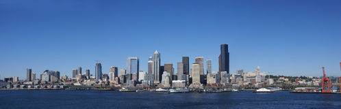 Panorama - Seattle waterfront skyline Stock Photo