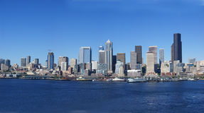 Panorama - Seattle waterfront skyline Stock Images