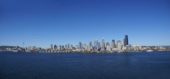 Panorama - Seattle waterfront skyline Royalty Free Stock Photography