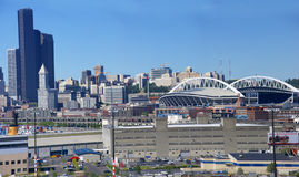 Panorama - Seattle waterfront skyline Royalty Free Stock Photo