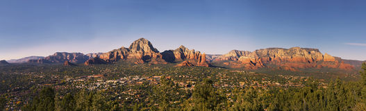 Panorama of Sedona City Royalty Free Stock Image