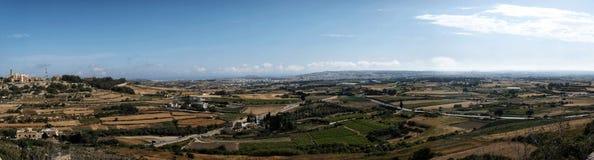 Panorama seen from the city  Mdina. Panorama seen from the city of Mdina Royalty Free Stock Photo
