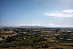 Panorama seen from the city  Mdina. Panorama seen from the city of Mdina Stock Image