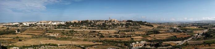 Panorama seen from the city  Mdina. Panorama seen from the city of Mdina Stock Photo