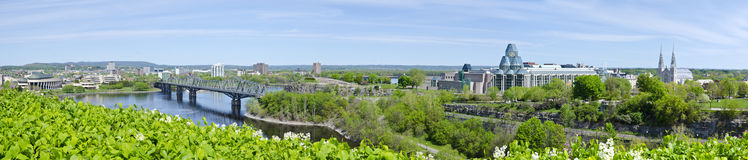Panorama Seen From Parliament Hill Ottawa Royalty Free Stock Photo