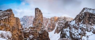 Panorama Sella Ronda Dolomites Italy lizenzfreie stockfotos
