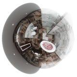 panorama sem emenda da ilustração 3d do design de interiores do banheiro Imagens de Stock