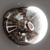 panorama sem emenda da ilustração 3d do design de interiores do banheiro Imagem de Stock