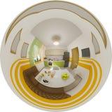 Panorama sem emenda da ilustração do interior da cozinha Foto de Stock Royalty Free