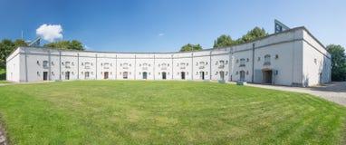 Panorama of the semi-circular courtyard of Fort Liefkenshoek Stock Images