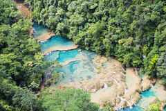Panorama of Semuc-champey Stock Image