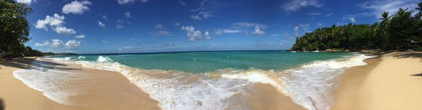 Panorama sen plaża Obrazy Stock