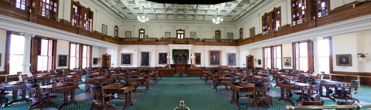 Panorama of The senate of Texas Capitol Royalty Free Stock Photography