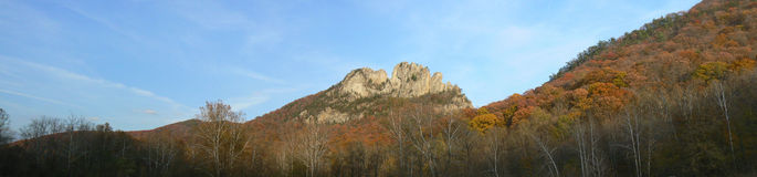 Panorama of Seneca Rocks Stock Images