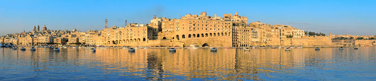 Panorama of Senglea in Valetta Harbor, Malta Stock Photography